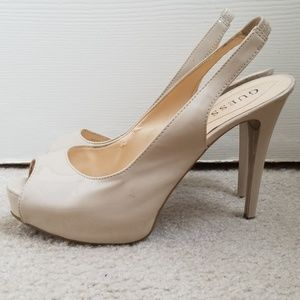 Guess Size 9 Nude Slingback Heels